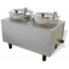Dual Well Food Warmer - 2 Ladles & Lids
