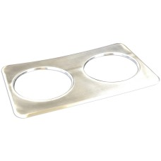 Stainless Steel Adaptor Plate with Two Holes - 8-3/8""