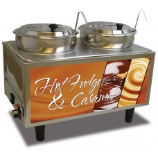 Hot Fudge / Caramel Warmer - 2 Ladles & Lids