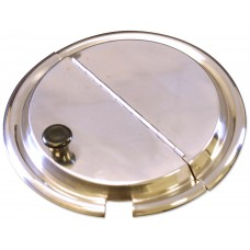 Stainless Steel Hinged Inset Cover - 9-13/16""