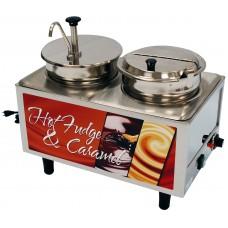 Hot Fudge / Caramel Warmer - 1 Pump & 1 Ladle & Lid