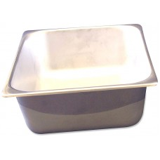 Half-Size Stainless Steel Solid Pan