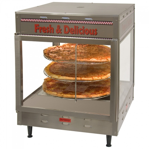 Humidified Rotating Pizza Display Warmer